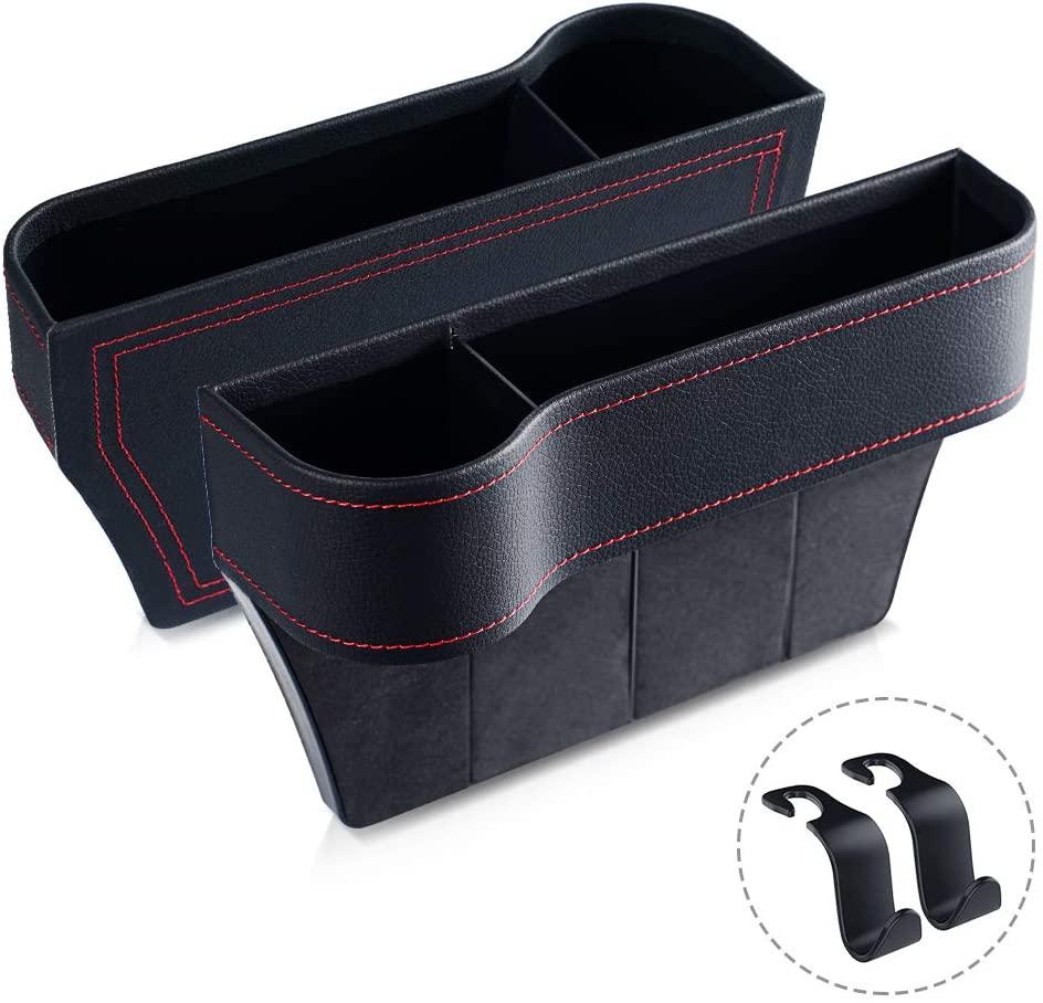 Meidong Car Seat Gap Organier, Storage Box, Console Side Pocket Storage Couple