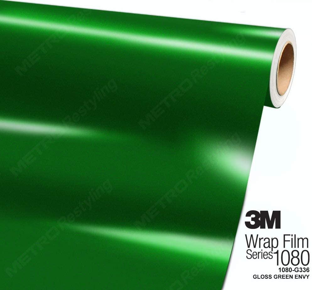 3M 1080 G336 Gloss Green Envy 5ft x 8ft (40 Sq/ft) Car Wrap Vinyl Film