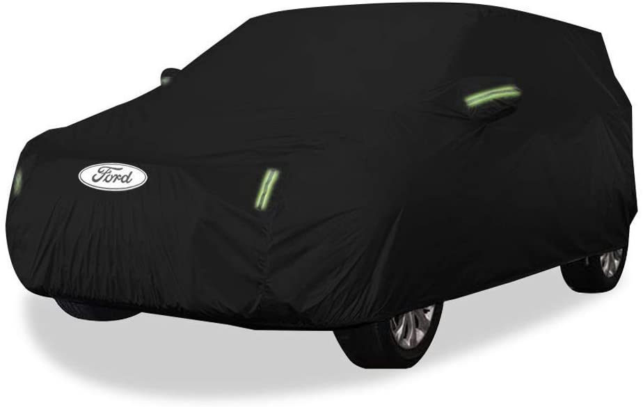 TYTZSM Car Cover Ford Everest Car Cover SUV Thick Oxford Cloth Sun Protection Rainproof Warm Cover Car Cover (Size : Oxford Cloth - Built-in lint)