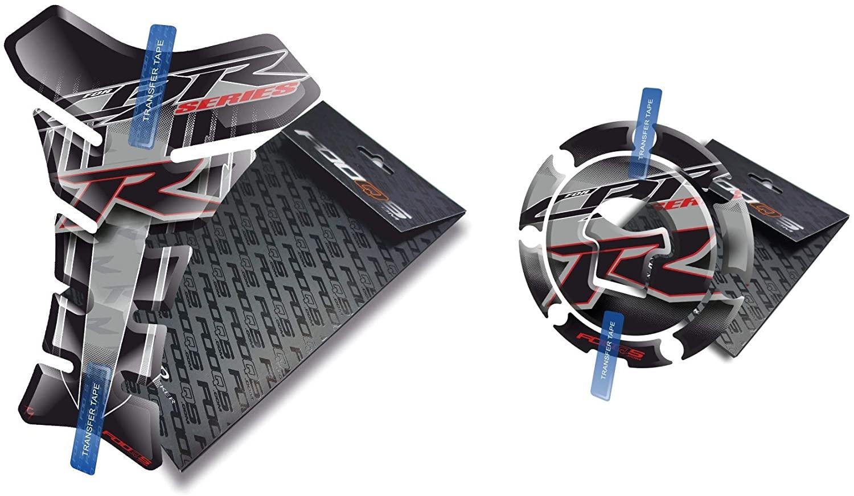 Fooqs Tankpad and Cappad for Honda CBR 1000rr Cbr1000rr 1000 Cbr600rr Older Model (Silver)