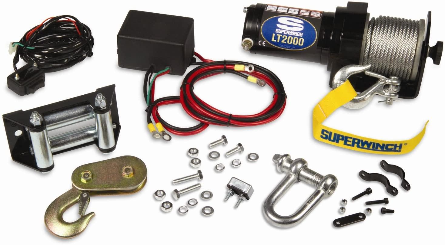 Superwinch 1120210 LT2000 12-Volt ATV Winch (2,000 lb Capacity)