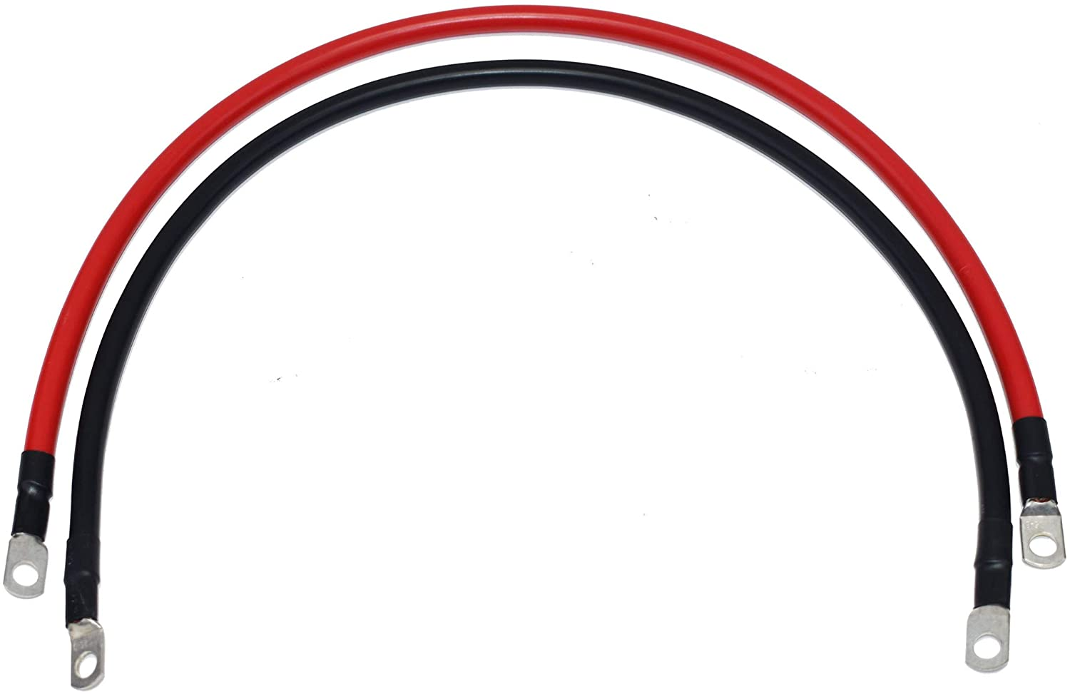 A-Team Performance 2 Ft positive and negative cables, Set with 5/16