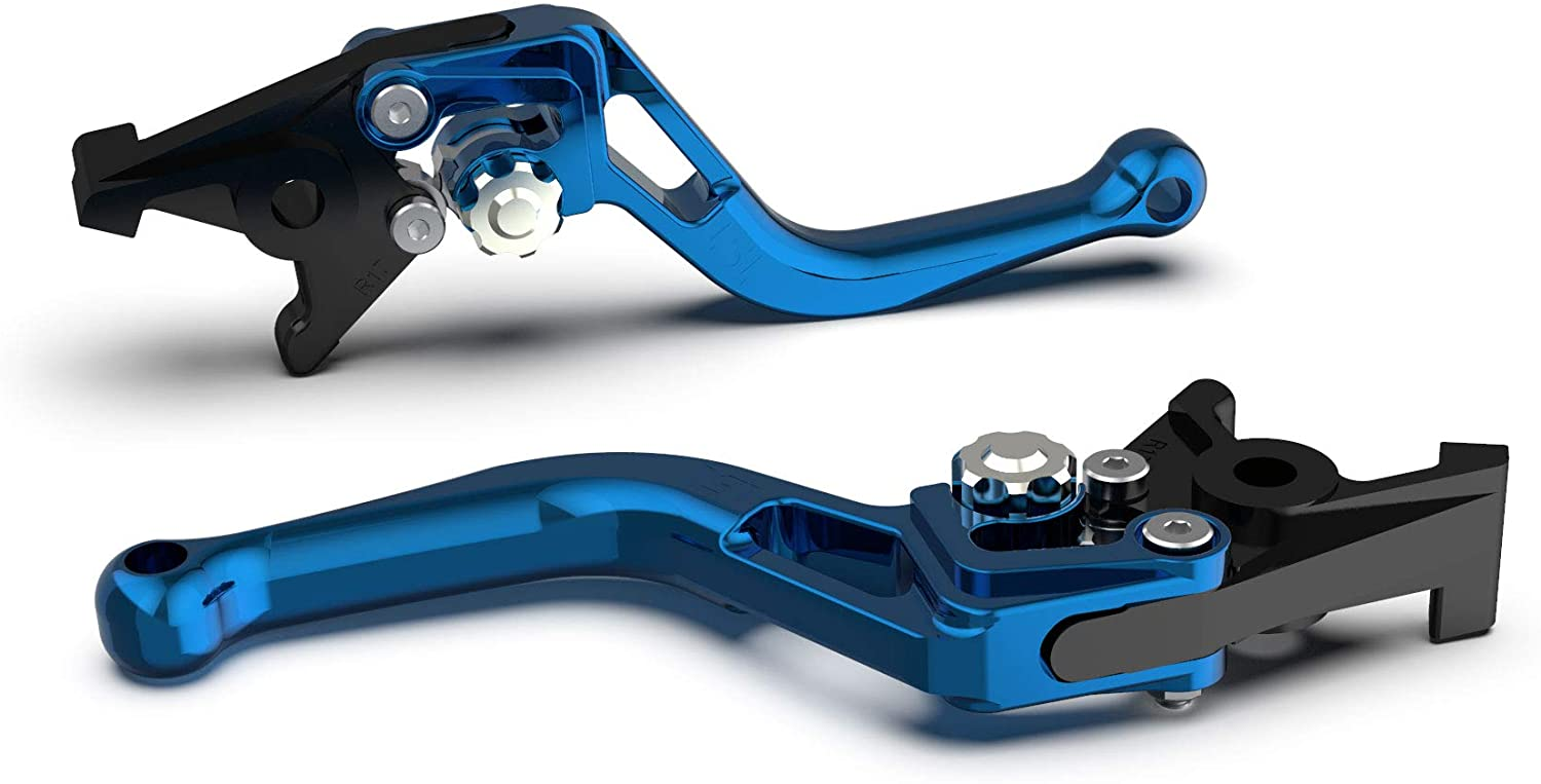 Motorize LSL Clutch Lever Bow for Brembo 16 RCS, L37R, Short, Blue/Silver