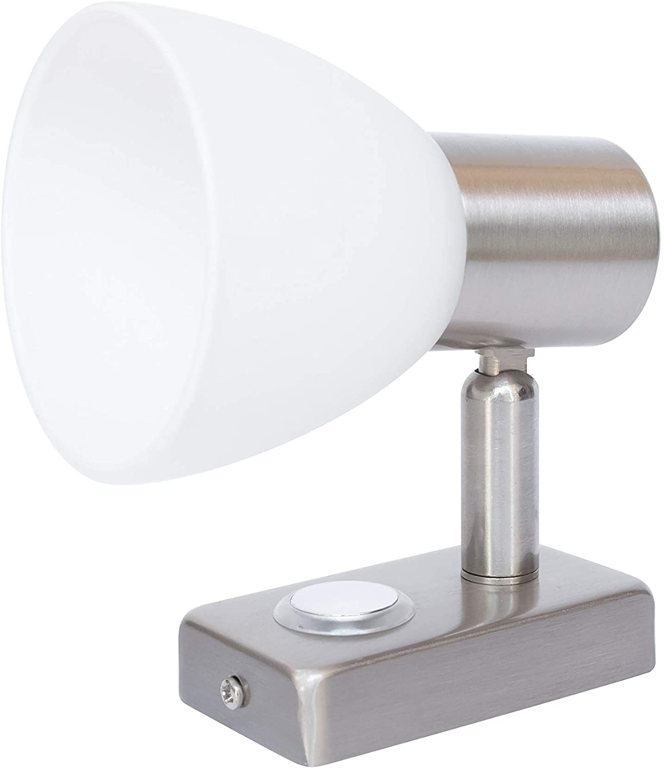 LIGHTEU RV Reading Light 12V Bedside,Designed for Reading, Boat, Yacht, and Caravan, Motorhome,Touch Switch Dimmable Warm(Nickel 1x D1)