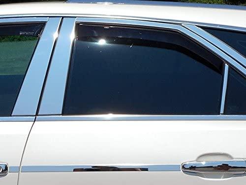 QAA FITS CTS 2010-2013 Cadillac (6 Pc: Stainless Steel Pillar Post Trim Kit, 4-Door & Sport Wagon) PP48251