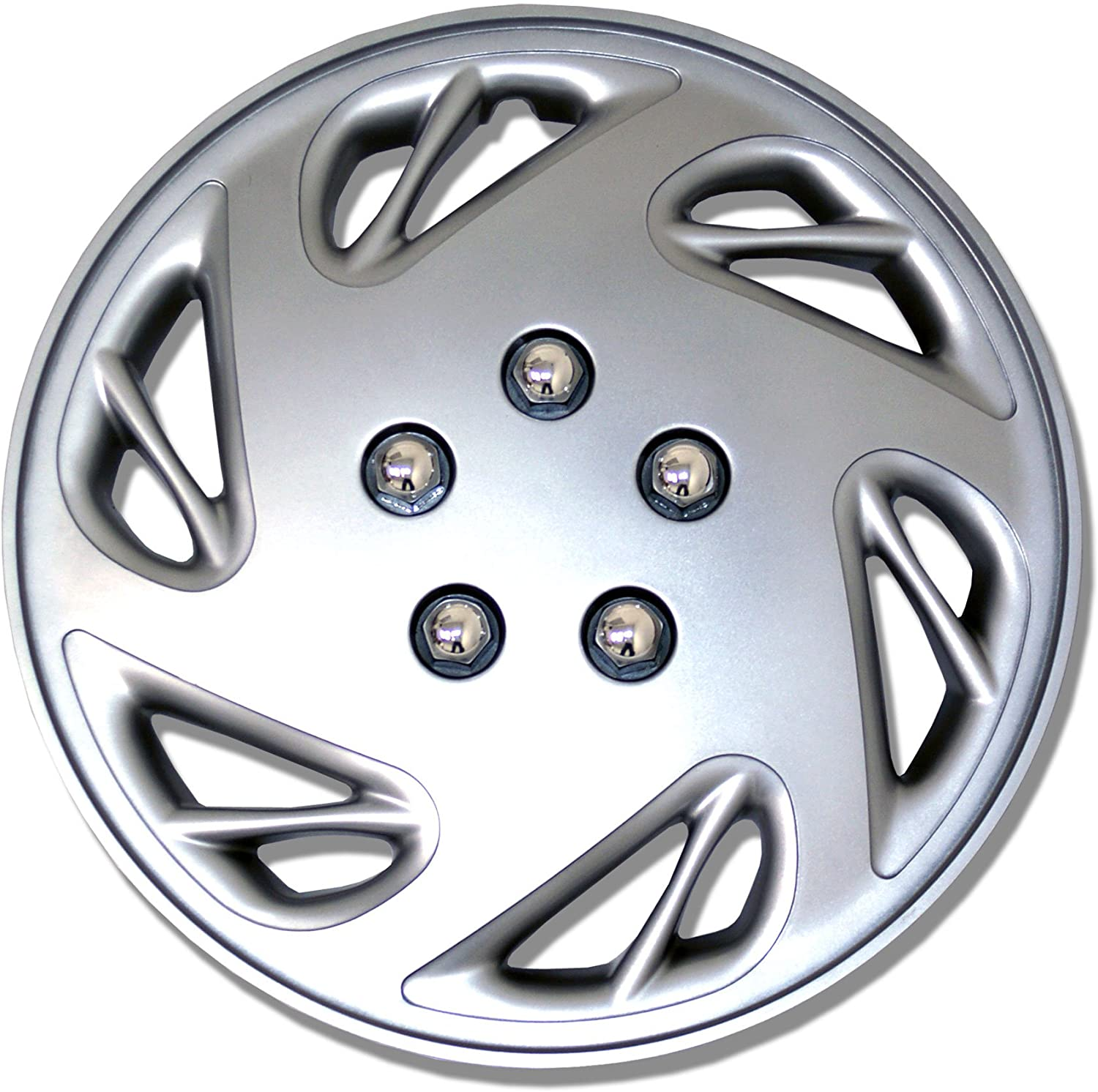TuningPros WSC-054S17 Hubcaps Wheel Skin Cover 17-Inches Silver Set of 4