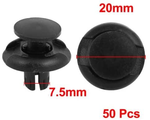 DishyKooker 50 Pcs 8mm Diameter Plastic Push Type Rivet Retainer Fastener Bumper Pin Clips for Car Accessories