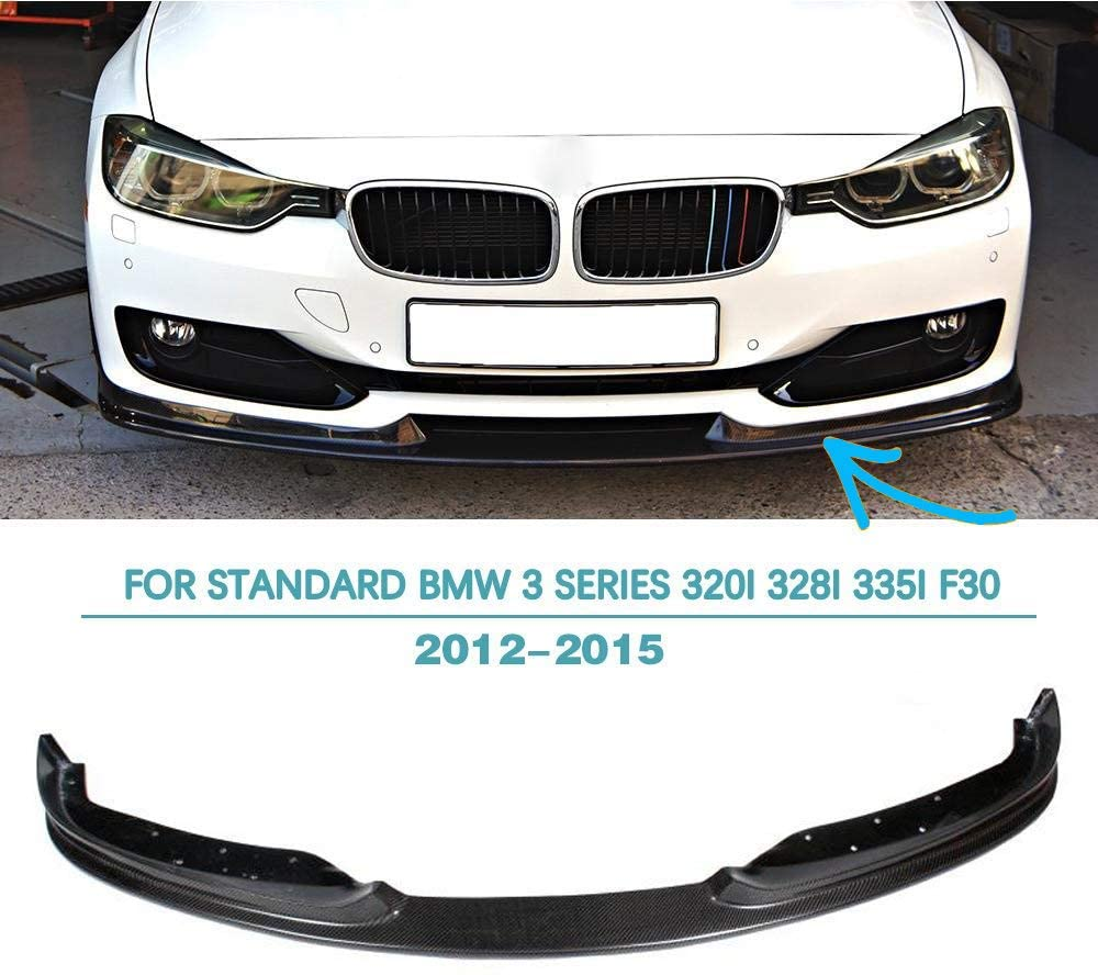 Jun-star Front Lip 2012-2015 Standard BMW 3 Series 320i 328i 335i F30 Front Chin Spoiler Carbon Fiber