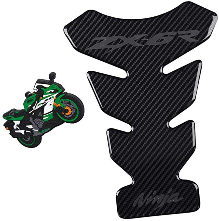Psler Motorcycle Reflective Sticker, Gas Tank Protector, Reflective Tank Pad for Kawasaki Ninja ZX6R ZX10R ZX14R 650