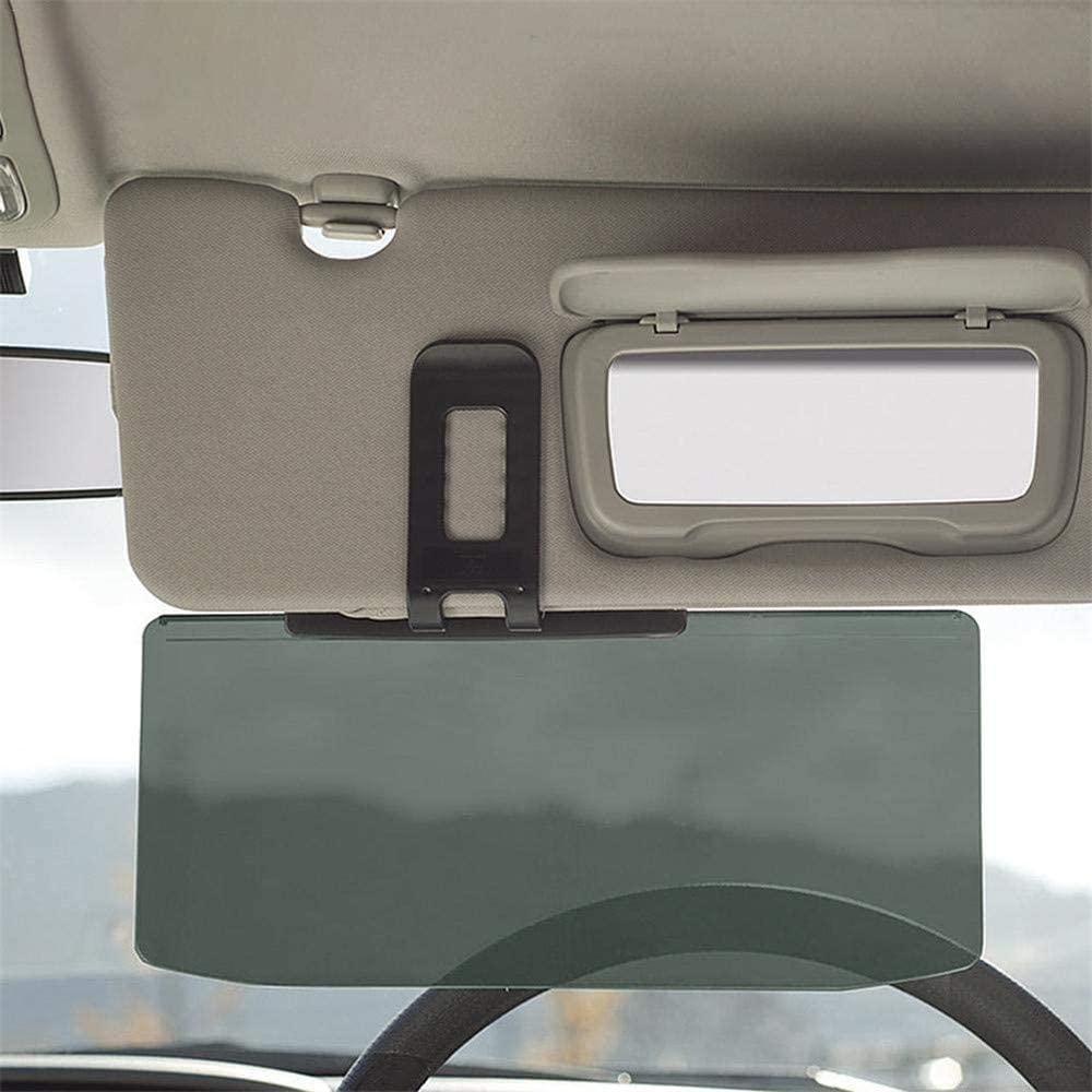 PBQWER Car Sun Visor Anti Glare Driving Shading Mirror Auto Anti-Glare Clip-On Sunshades for Day/Night Driving