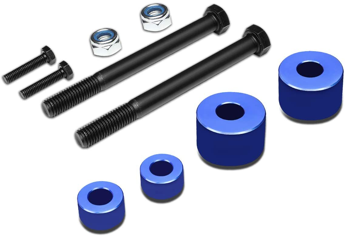 DNA Motoring DDK-TY-001-BL Blue Front Differential+Skid Plate Drop Spacer [For 97-04 Tacoma]
