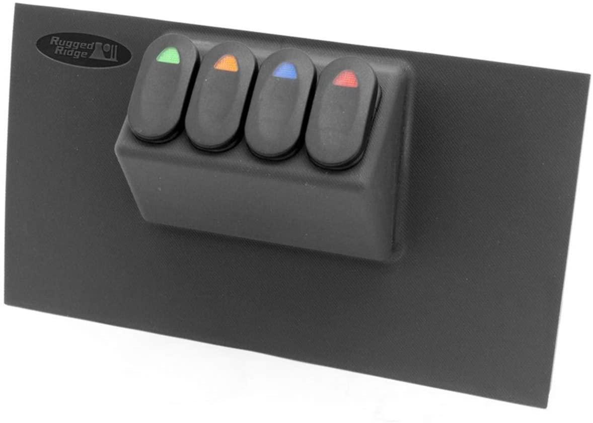 Rugged Ridge 17235.85 Black Lower Switch Panel Kit