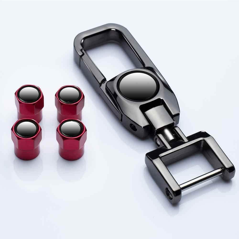 HEY KAULOR 5 Pcs Tire Valve Stem Caps Suit for Forte Optima Rio Sedona Sorento Soul Sportage with Key Chain