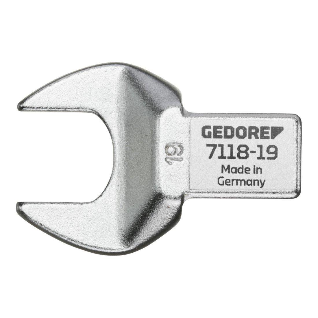 GEDORE 7118-22 Rectangular Open end Fitting SE 14x18, 22 mm