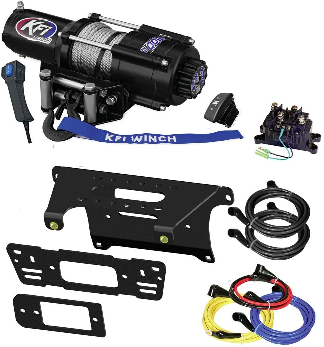 KFI Combo Kit - U45-R2 4500lbs Winch & Mount Bracket - compatible with 2014-2018 Polaris 900 Ranger Crew 4x4