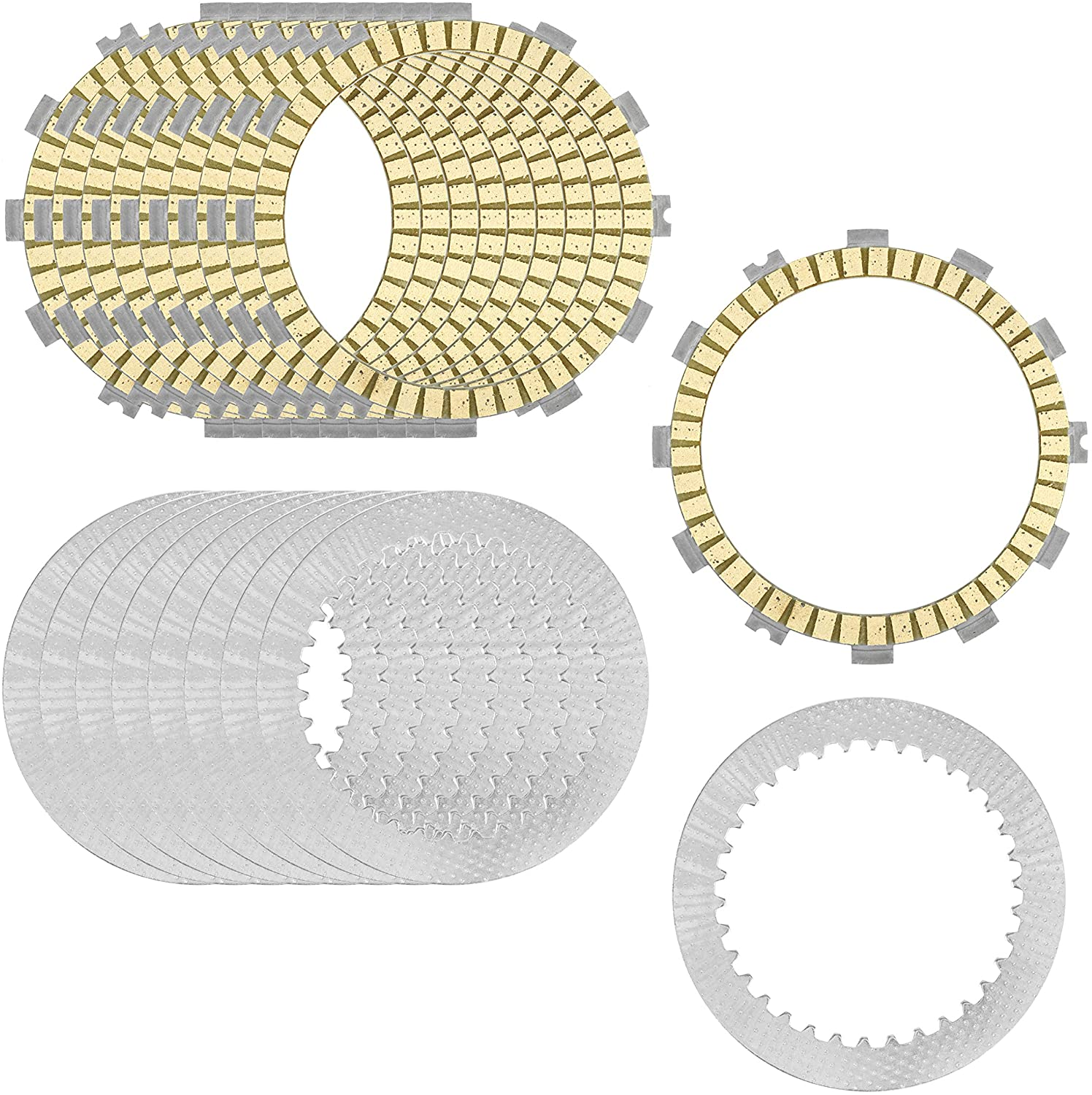 Caltric Clutch Friction and Steel Plates compatible with Suzuki GSX-R1000 GSXR1000Z 2001 2002 2003 2004
