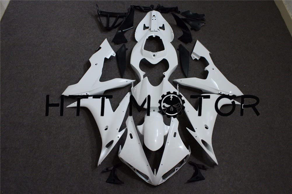 HTTMT Y1005- Unpainted ABS Plastic Fairing Cowling Compatible with YAMAHA YZF 1000 R1 YZFR1 2004-2006 05