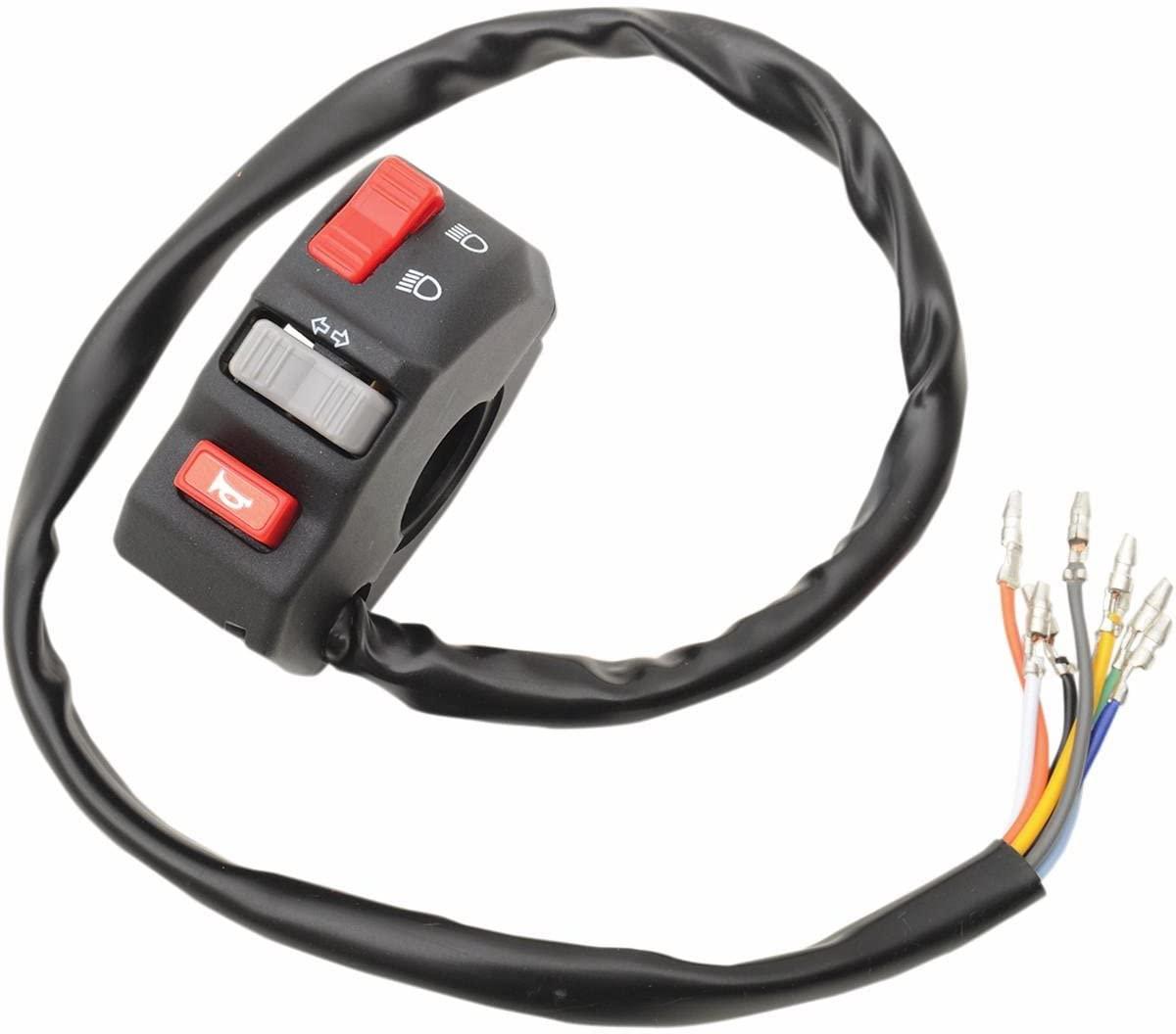 Emgo 4668734 Universal Left-Side Handlebar Switch