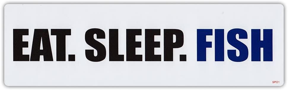 Bumper Sticker Decal - Eat. Sleep. Fish. - I Love Fishing, Fishing Lover