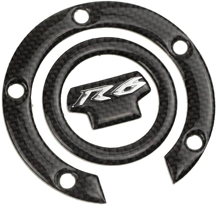 PRO-KODASKIN Motorcycle 3D Carbon Gas Cap Decal for Yamaha YZF600 R6 YZF-R6