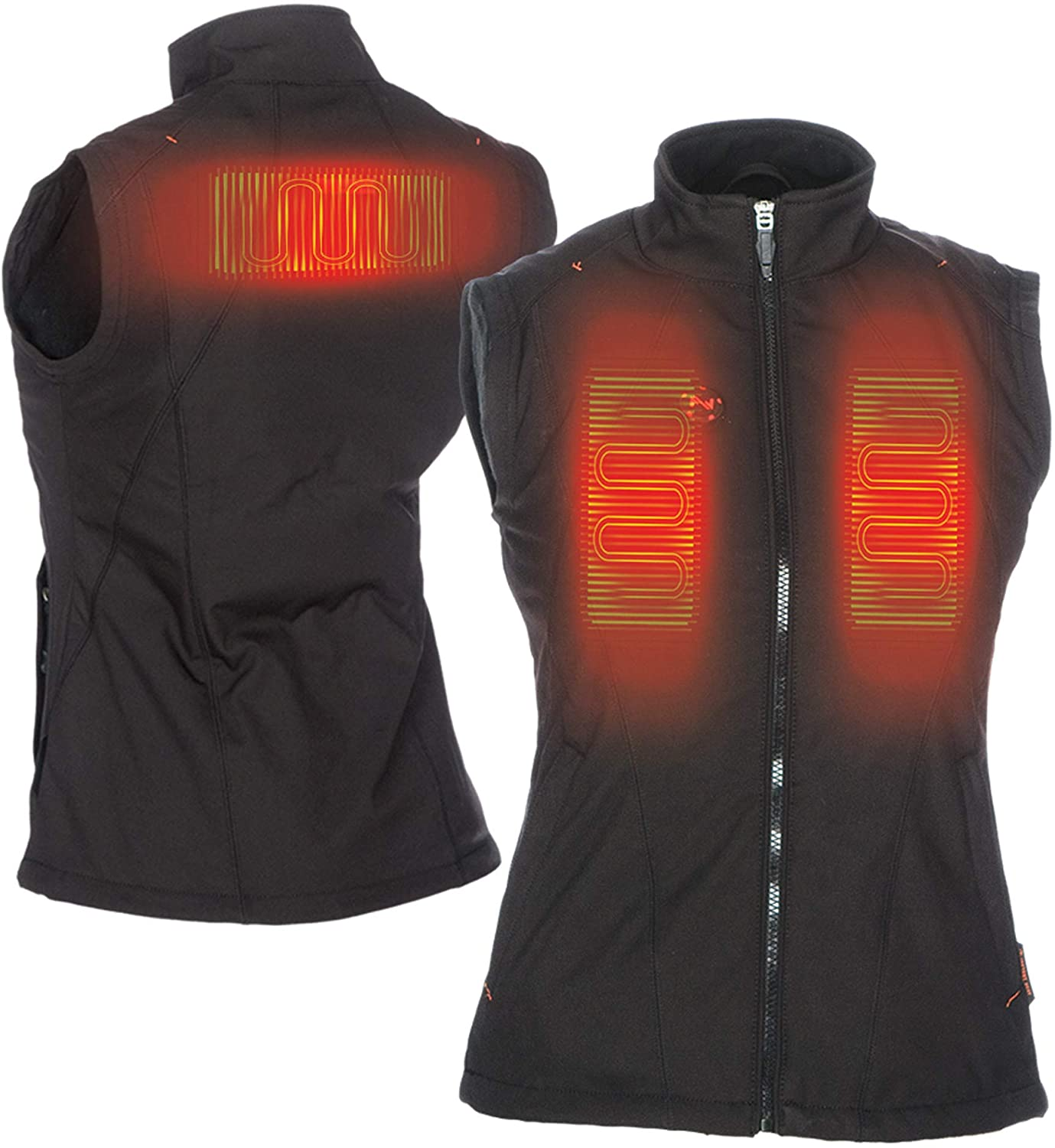 Mobile Warming Women's Dual Power Heated 12.v Vest (Black, X-Small)
