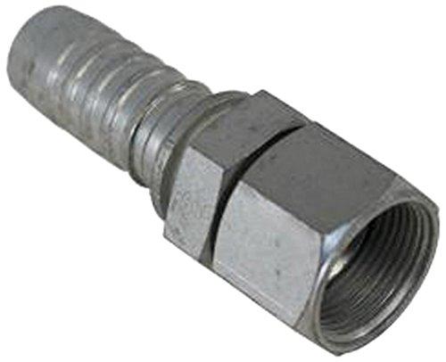 Gates 12GS-16FJX XBULK GlobalSpiral Couplings, Female JIC 37° Flare Swivel, Zinc Plated Carbon Steel, 4.02