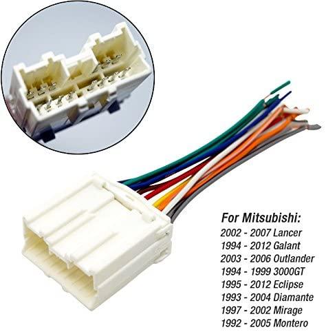 FEELDO CAR Radio Stereo Wiring Harness Adapter for Mitsubishi LANCER/GALANT/OUTLANDER/3000GT/DIAMANTE/MIRAGE/MONTERO/ENDEAVOR