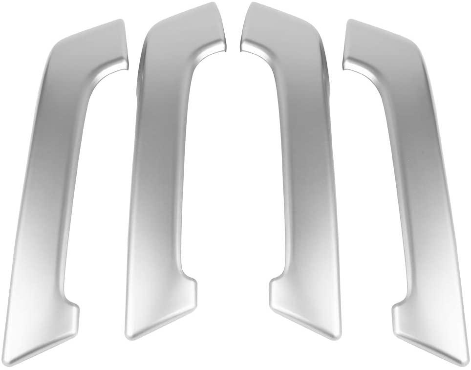 Qiilu 4Pcs Car Interior Door Handle Trim Cover Frame Fit for Toyota Land Cruiser Prado J150 2010-2018