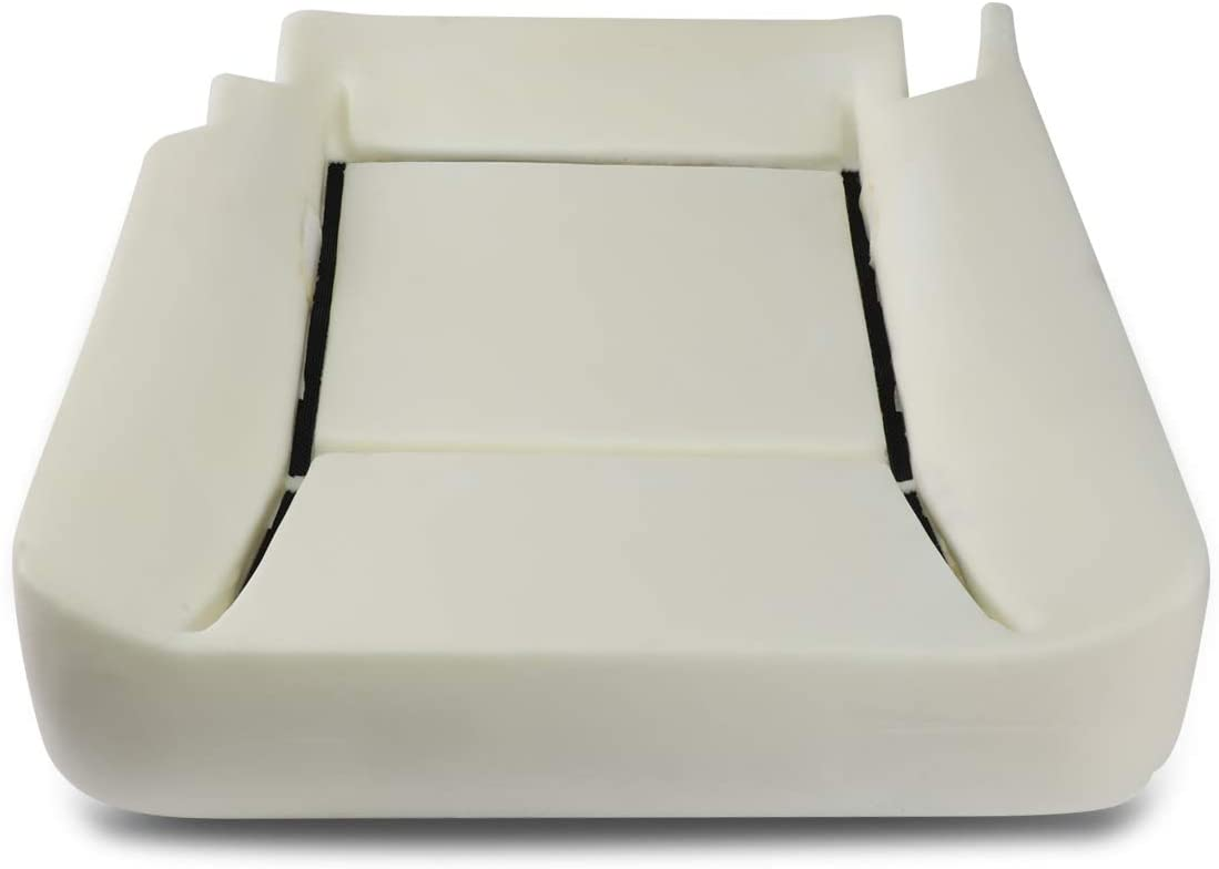 DNA Motoring ZTL-Y-0036 Front Driver Side Bucket Seat Bottom Lower Cushion Pad Upgrade,White