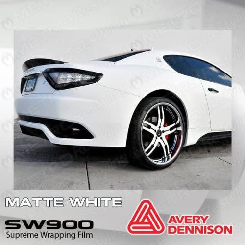Supreme Avery Wrapping Vinyl Car Wrap Film Matte White 5ft x 4ft (20 Sq/ft)