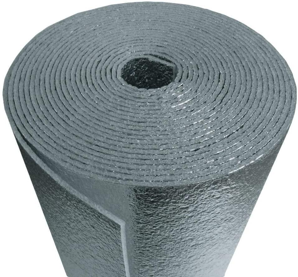 US Energy Products Car Insulation - 4' x 67.5' Roll (270 Sqft) Sound Deadener & Heat Barrier Mat - Automotive Lightweight Thermal Insulation
