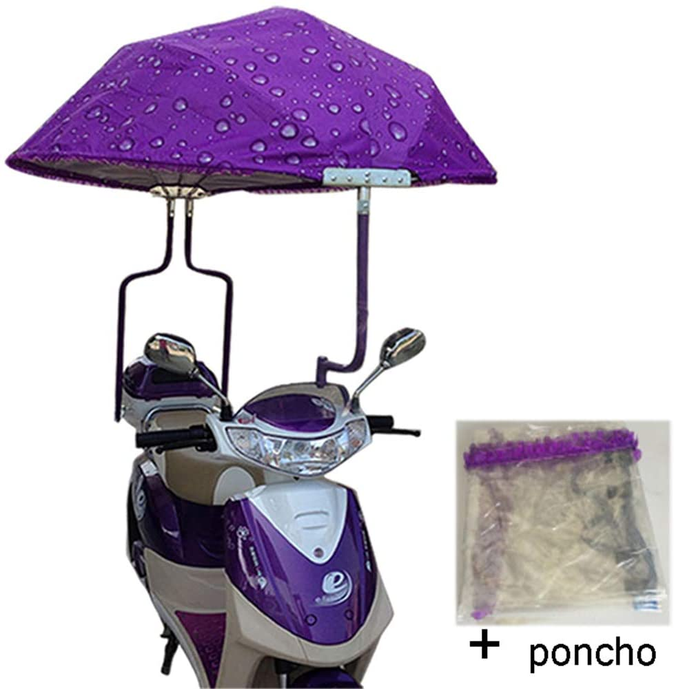 XIONGG Universal Electric Motorcycle Sunshade Cover, Motor Scooter Umbrella Mobility Sun Shade, Rain Cover Waterproof