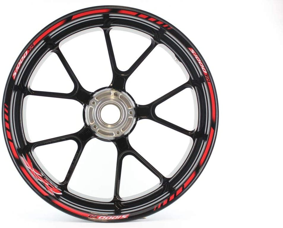 Motorcycle wheel rim decals rimstriping strips accessory sticker for BM.W S 1000 XR (Red)