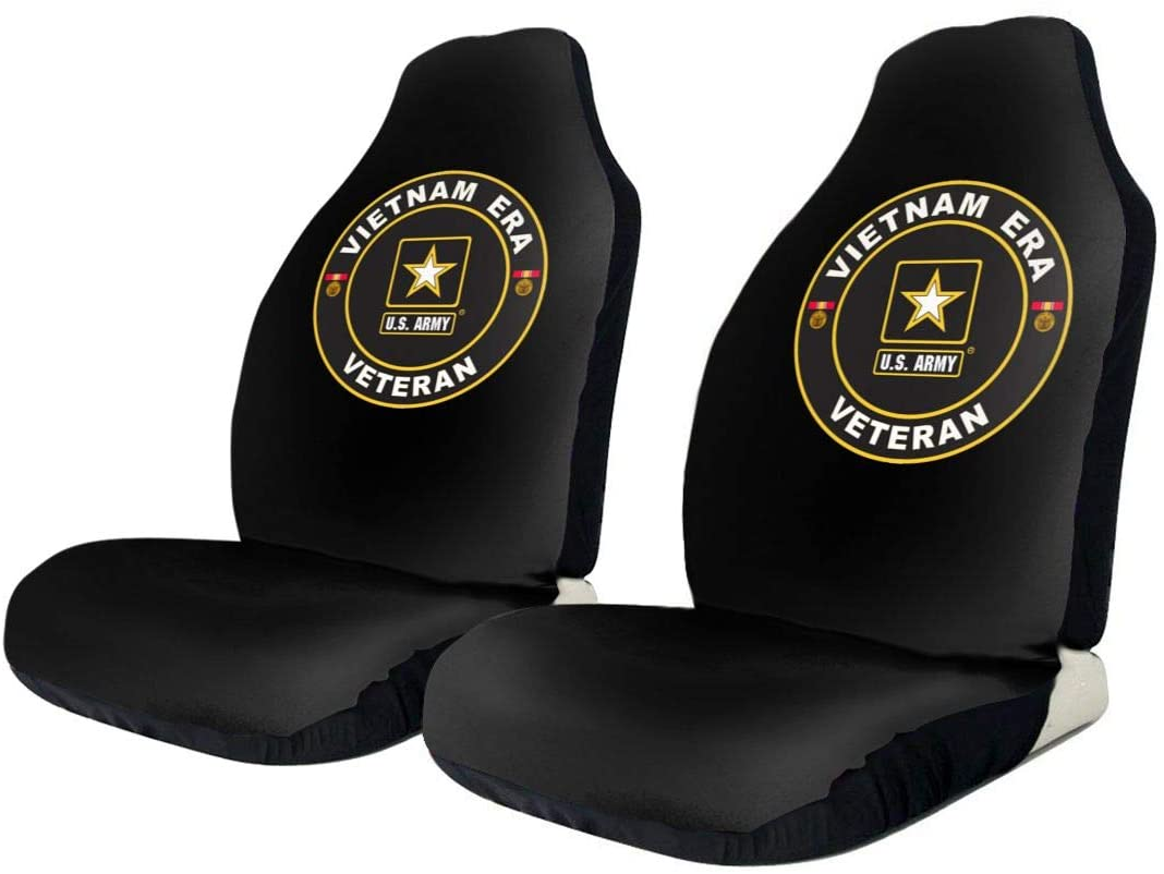KEEDCE&FJE U.S. Army Vietnam Era Veteran Universal Car Seat Cover Car Seat Covers Protector for Automobile Truck SUV Vehicle