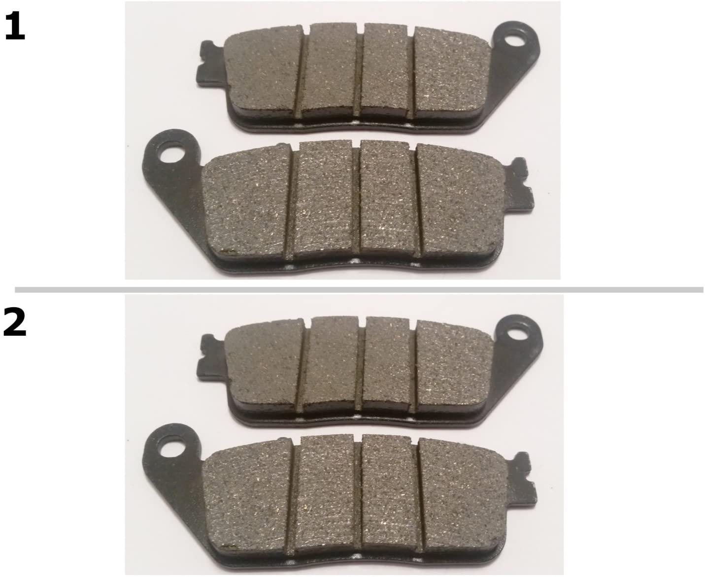 ACM226/FA226 2 SETS FRONT BRAKE PADS FITS: 2010-2011 HONDA CBF 1000 F FA (2 Piston Front Caliper/Non ABS)