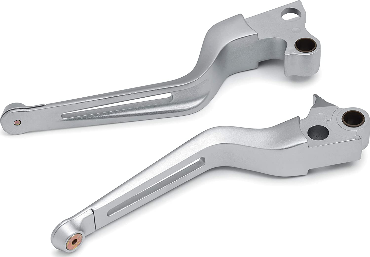Kuryakyn 6681 Motorcycle Handlebar Accessory: Dillinger Clutch and Brake Trigger Levers for 1996-2017 Harley-Davidson Motorcycles with Cable Clutch, Silver, 1 Pair