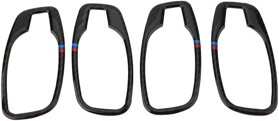 Senyar 4Pcs Car Interior Door Handle Cover,Carbon Fiber Door Interior Handle Frame Cover Sticker Accessory for E60(B)