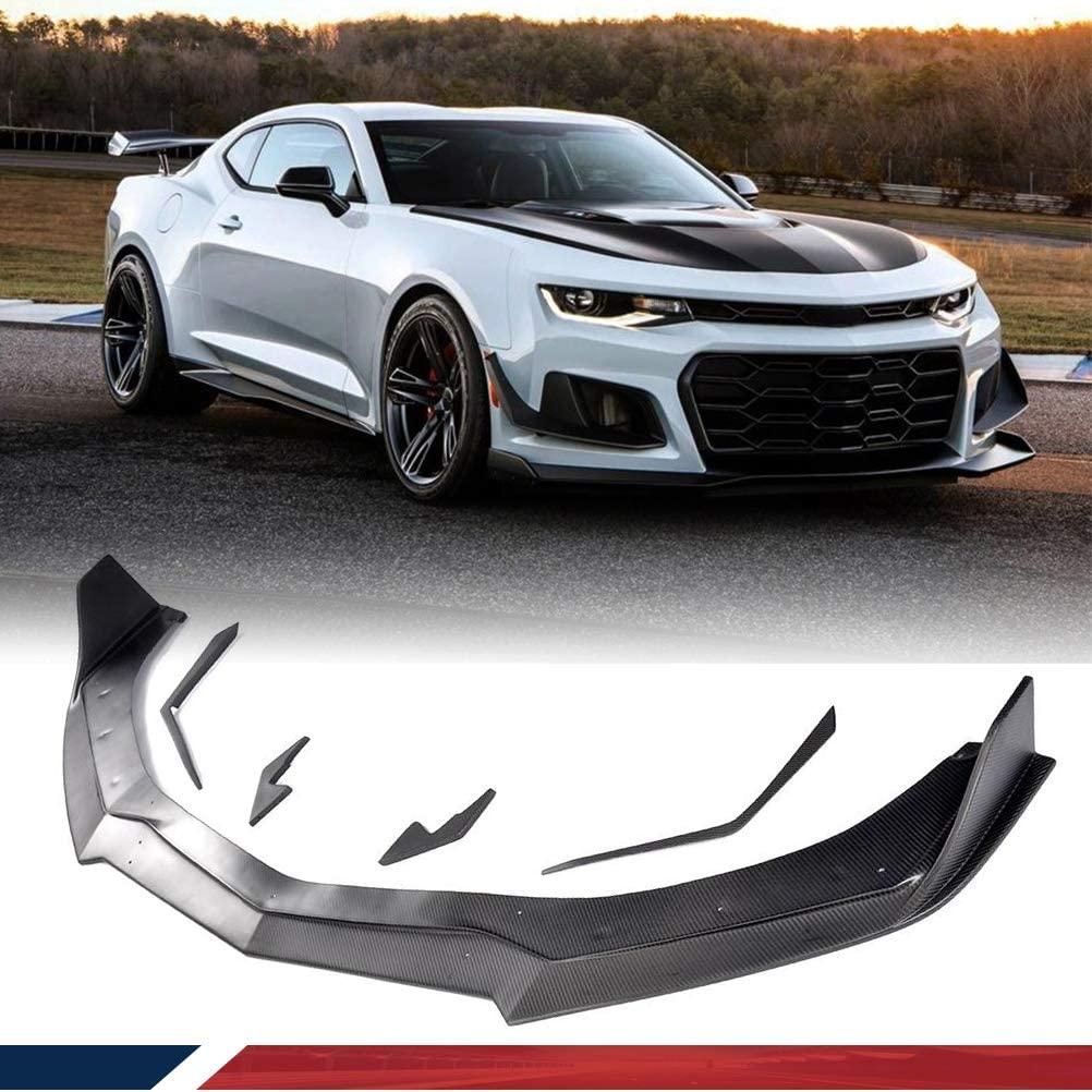 JC SPORTLINE Carbon Fiber Chin Spoiler fits for Chevrolet Camaro SS 2016-2019 Front Bumper Lip Spoiler Chin Splitter Factory Outlet
