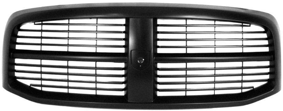 New Front Grille For 2006-2008 Dodge Full Size Pickup, Black/Paint To Match CH1200280 5JY121SPAF