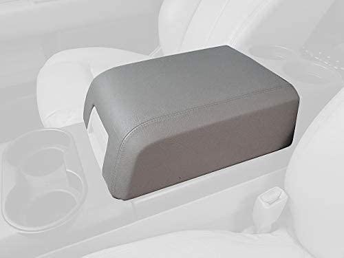 RedlineGoods armrest Cover XLT Compatible with Ford F-150 2009-14. Black Alcantara-Red Thread