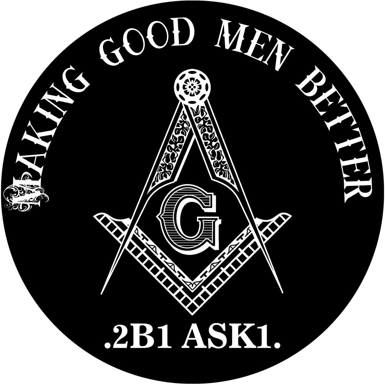Making Good Men Better Round Masonic Bumper Sticker - [4 1/2'' Diameter]