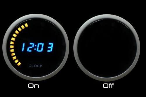 Blue Digital LCD Clock Gauge 12 Volt 52mm (2 1/16)