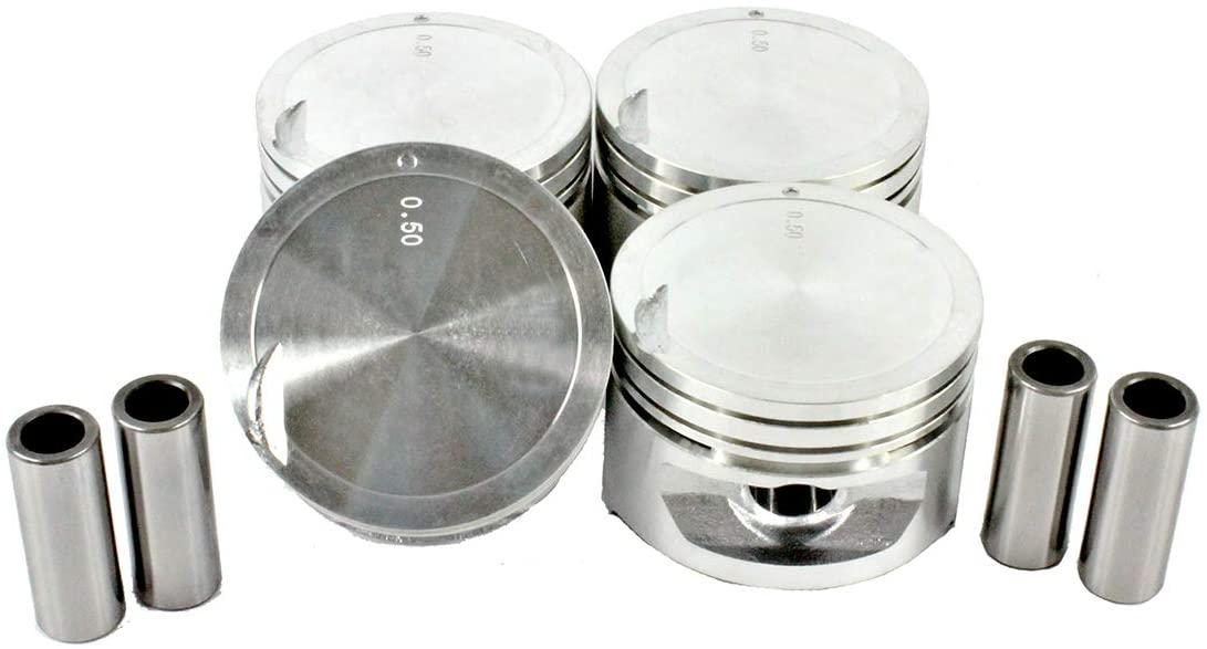 DNJ P134 Piston Set for 2000-2002 / Hyundai/Accent / 1.5L / SOHC / L4 / 12V / 1495cc / G4EK