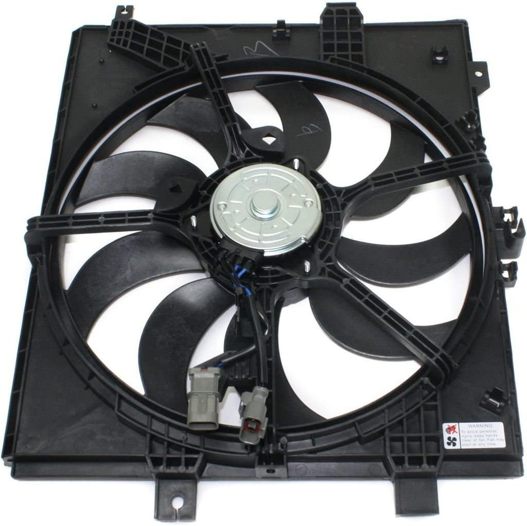 Dual Radiator and Condenser Fan Assembly - Cooling Direct For/Fit NI3115143 12-19 Nissan Versa Sedan 14-19 Versa Note A/T CVT-ONLY