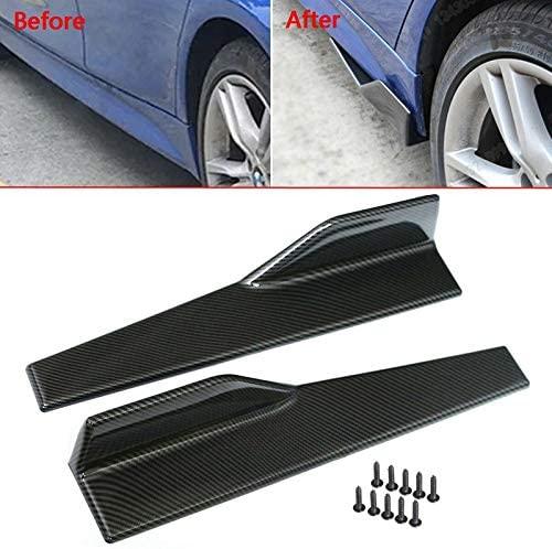 Carbon Fibre Look 2 Pcs 45cm Rocker Panel Skirt Splitter Lip For 240Z, 280Z, Stanza Models