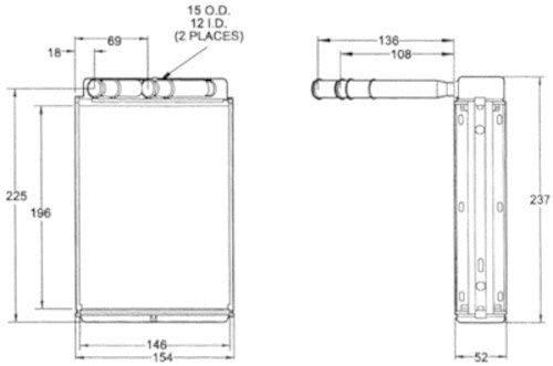 ACDelco 15-60114 Heater Core