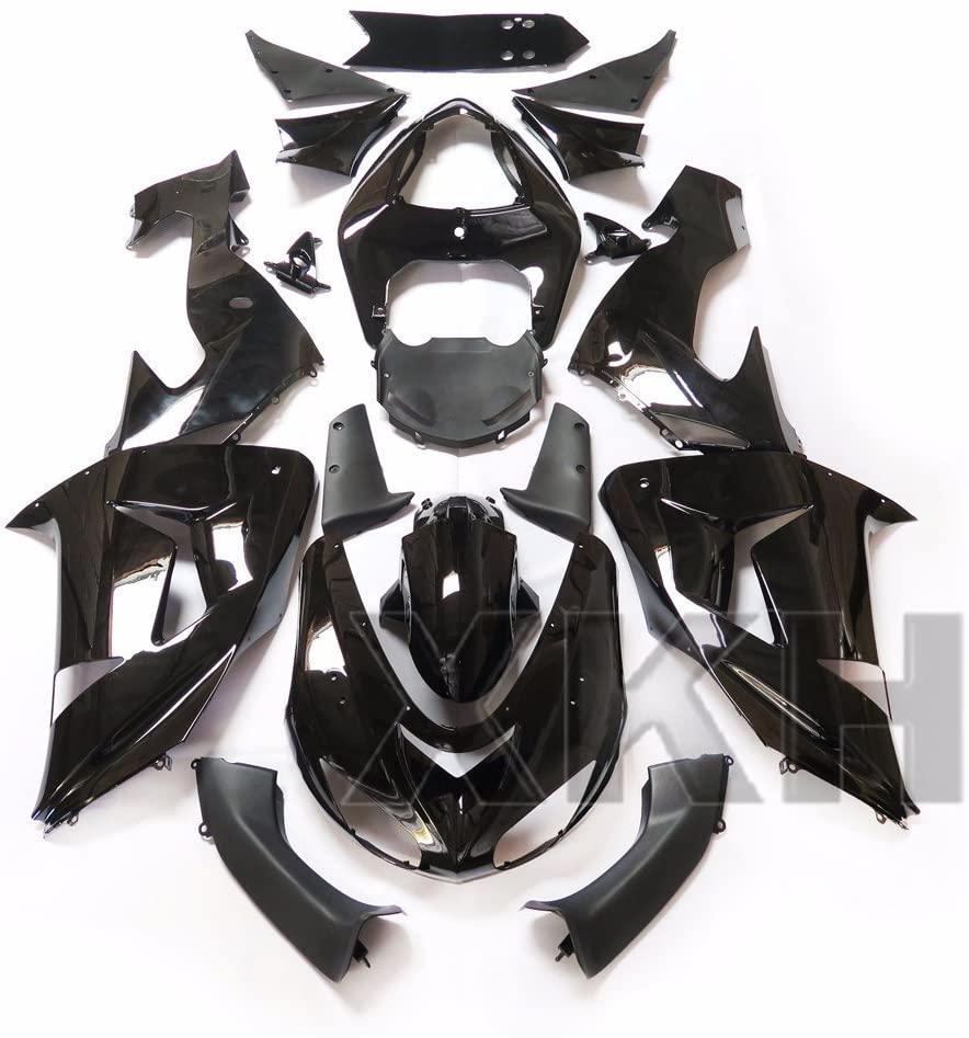 XKH Group Glossy Black ABS Plastic Fairings Bodywork for 2006-2007 Kawasaki Ninja ZX10R