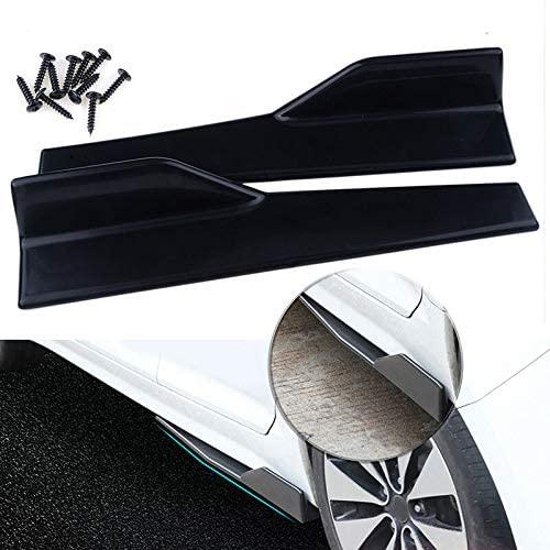 Gloss Black 2 Pcs 45cm Rocker Panel Skirt Splitter Lip For Superb, Yeti Models