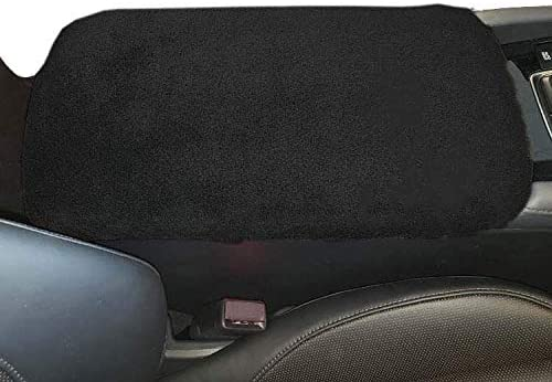 Car Console Covers Plus Made in USA Fleece Auto Armrest Center Console Cover Designed for Ford Edge 2015-2020 Black