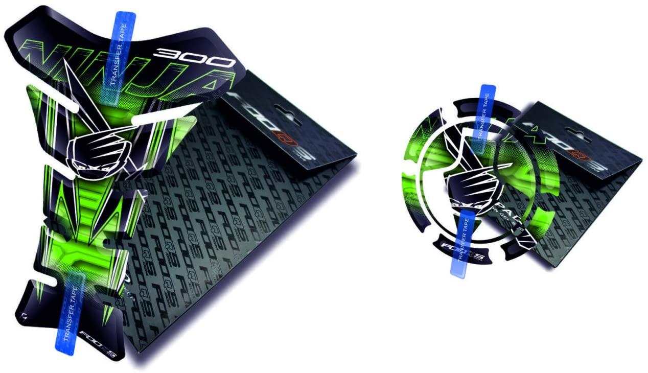 Tankpad and Cappad for KAWASAKI NINJA 300 (Green)